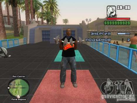 Футболка THE MIZ для GTA San Andreas восьмой скриншот