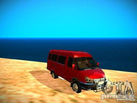 ГАЗель 32213 Бизнес v1.0 для GTA San Andreas вид изнутри