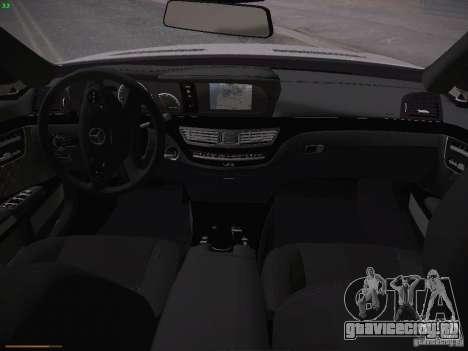 Mercedes Benz S65 AMG 2012 для GTA San Andreas вид изнутри
