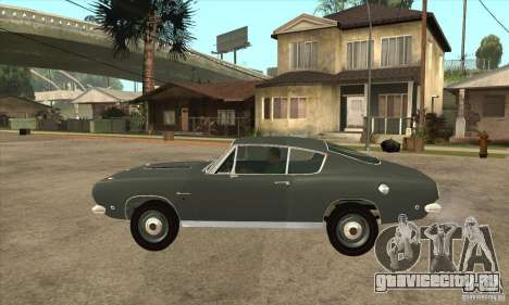 Plymouth Barracuda Formula S 383 1968 для GTA San Andreas вид слева