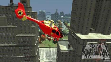 Medicopter 117 для GTA 4 вид сзади слева