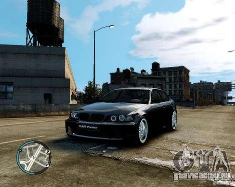 BMW 320i E46 v1.0 для GTA 4 вид сбоку