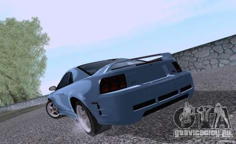 Ford Mustang SVT Cobra 2003 White wheels для GTA San Andreas вид справа