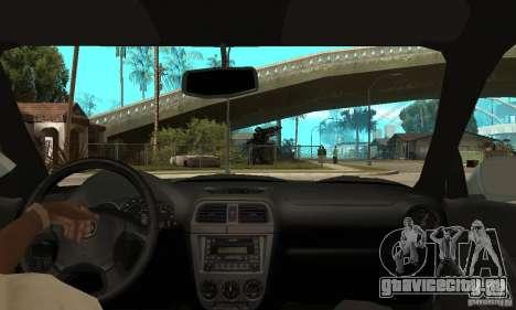 Subaru Impreza 2002 Tunable - Stock для GTA San Andreas вид сзади