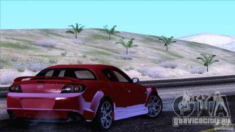 Mazda RX8 R3 2011 для GTA San Andreas вид сверху