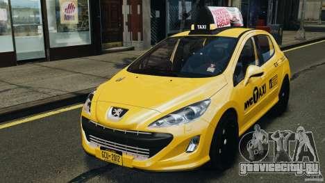 Peugeot 308 GTi 2011 Taxi v1.1 для GTA 4