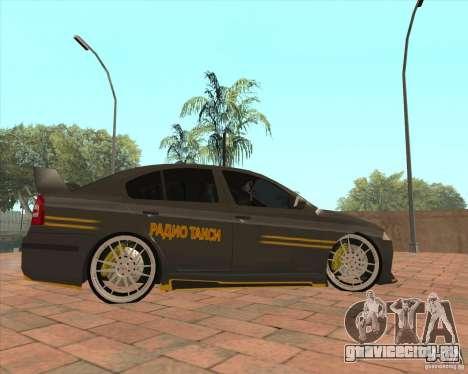 Skoda Octavia Taxi для GTA San Andreas вид слева