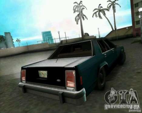 Ford Crown Victora LTD 1985 для GTA Vice City вид сзади слева