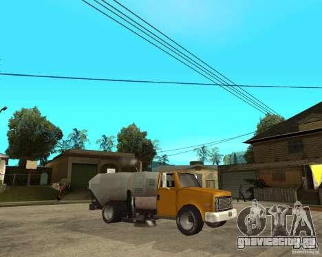 Уборочный грузовик для GTA San Andreas вид справа