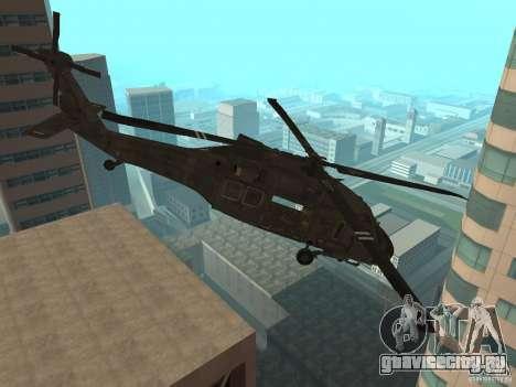 UH-60 Black Hawk для GTA San Andreas вид сзади слева