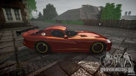 Dodge Viper 1996 для GTA 4 вид изнутри