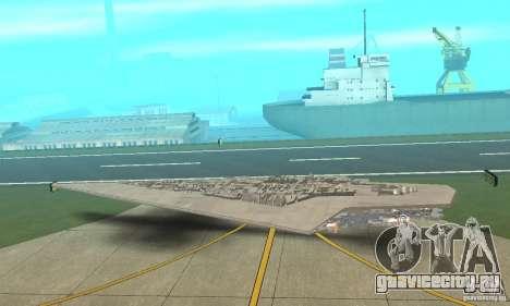 Executor Class Stardestroyer для GTA San Andreas вид сзади слева
