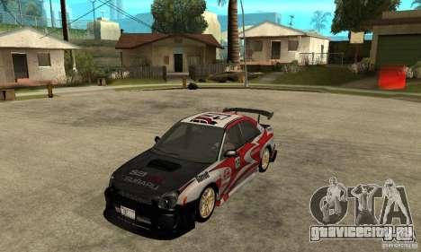Subaru Impreza 2002 Tunable - Stock для GTA San Andreas двигатель