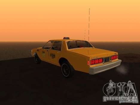 Chevrolet Caprice 1986 Taxi для GTA San Andreas вид слева