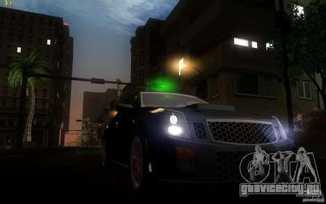 Cadillac CTS-V для GTA San Andreas вид изнутри