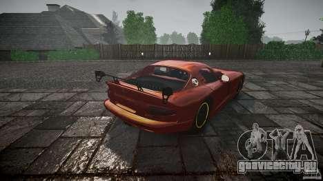 Dodge Viper 1996 для GTA 4 вид сбоку