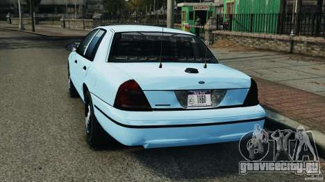 Ford Crown Victoria Police Unit [ELS] для GTA 4 вид сзади слева