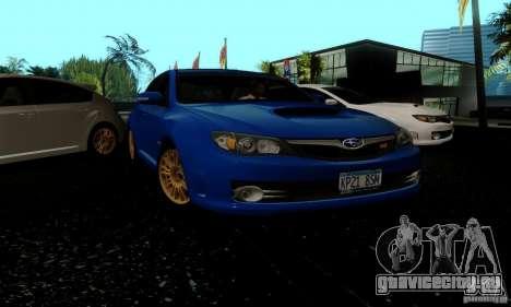 2008 Subaru Impreza Tuneable для GTA San Andreas