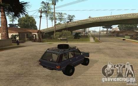 Range Rover Off Road для GTA San Andreas вид слева