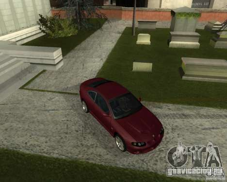 Vauxhall Monaro для GTA San Andreas вид слева
