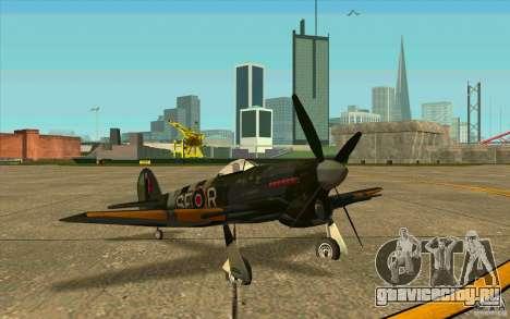 Hawker Typhoon для GTA San Andreas вид слева