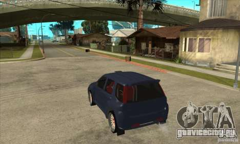Suzuki Ignis Rally для GTA San Andreas вид сзади слева