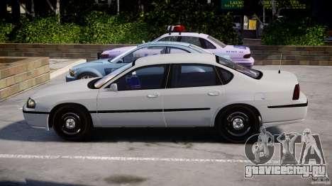Chevrolet Impala Unmarked Police 2003 v1.0 [ELS] для GTA 4 вид изнутри