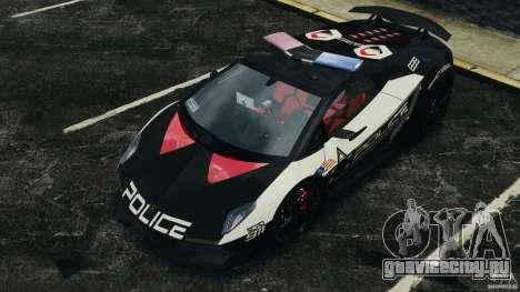 Lamborghini Sesto Elemento 2011 Police v1.0 RIV для GTA 4 салон