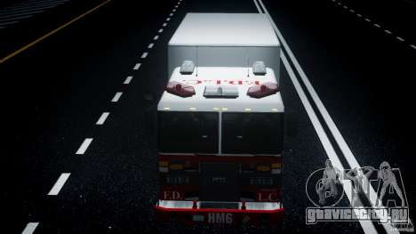 LCFD Hazmat Truck v1.3 для GTA 4 вид сверху