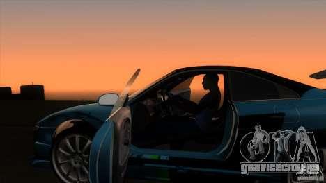 Toyota MR2 Drift для GTA San Andreas вид изнутри