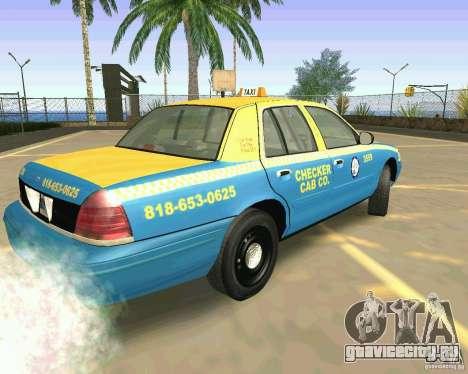Ford Crown Victoria 2003 Taxi Cab для GTA San Andreas вид слева