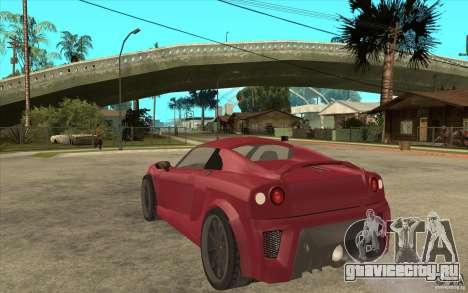 Mastretta MXT для GTA San Andreas вид сзади слева