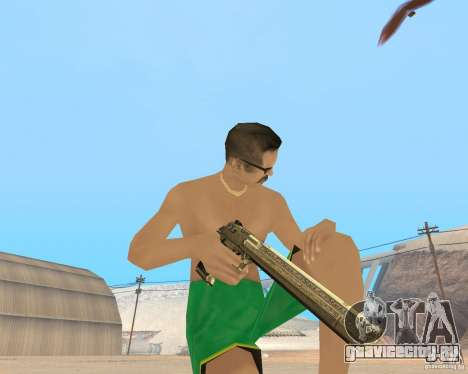 Gold weapons pack для GTA San Andreas второй скриншот