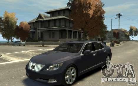 Lexus LS 600h L v1.1 для GTA 4