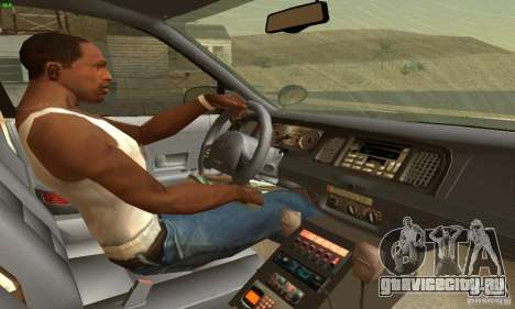 Ford Crown Victoria North Dakota Police для GTA San Andreas вид сзади слева