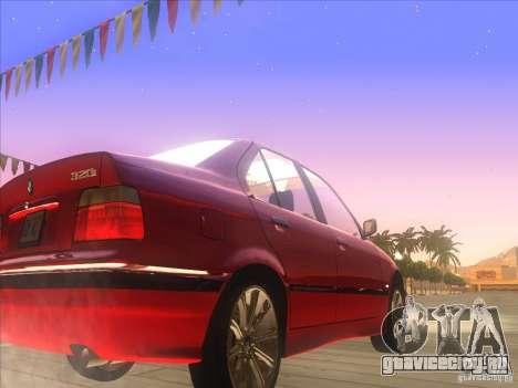 BMW E36 для GTA San Andreas вид сзади