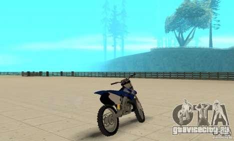 Yamaha YZ250 для GTA San Andreas вид слева