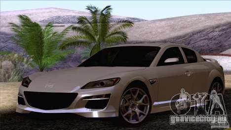 Mazda RX8 R3 2011 для GTA San Andreas вид справа