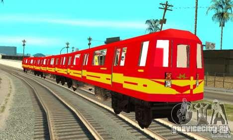 Liberty City Train Red Metro для GTA San Andreas вид сзади слева