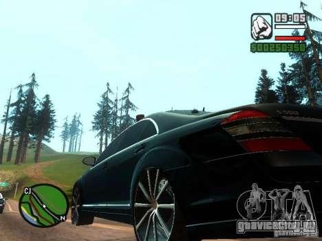 Mercedes-Benz S500 с мигалками для GTA San Andreas вид сзади
