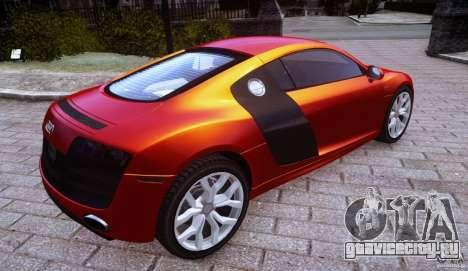 Audi R8 V10 для GTA 4 вид слева