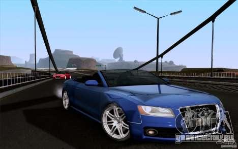 Audi S5 Cabriolet 2010 для GTA San Andreas вид сзади слева