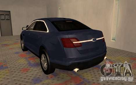 Ford Taurus Interceptor Unmarked 2013 для GTA San Andreas вид справа