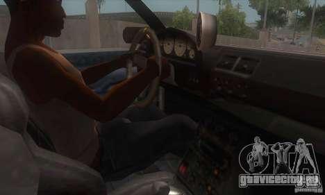 New Sultan HD для GTA San Andreas вид изнутри
