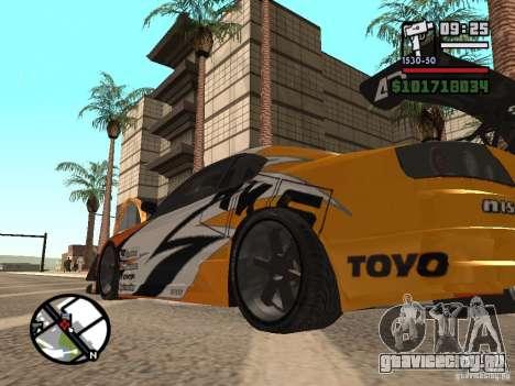 Nissan Silvia 200SX для GTA San Andreas вид справа