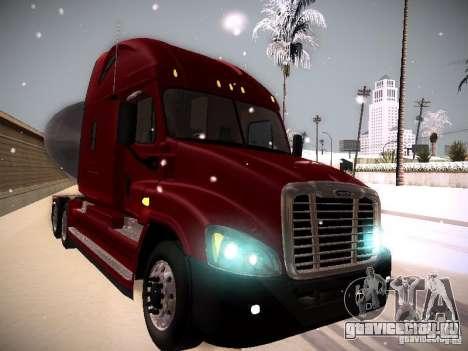 Freightliner Cascadia для GTA San Andreas вид сзади слева