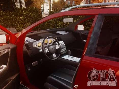 Nissan Murano Ti Z50 для GTA 4 вид изнутри