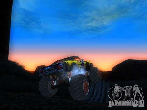 Fire Ball Paint Job 2 для GTA San Andreas вид сзади слева