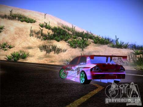 Mitsubishi Lancer Evolution 9 Hypermax для GTA San Andreas вид сверху