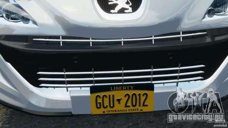 Peugeot 308 GTi 2011 v1.1 для GTA 4 двигатель